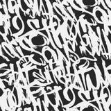 Vector le etichette il modello senza cuciture, progettazione di lerciume dei graffiti della stampa royalty illustrazione gratis