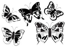 Vector le farfalle Immagine Stock Libera da Diritti