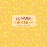 Vector le fette del cerchio di modello arancio, fondo senza cuciture royalty illustrazione gratis