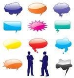 Vector le figure delle bolle di discorso. illustrazione di stock