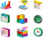 Vector le icone Immagini Stock Libere da Diritti