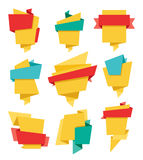 Le insegne di Origami hanno messo 02 Immagine Stock