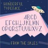 Vector le lettere dell'alfabeto, il carattere dello spazio, concetto del UFO royalty illustrazione gratis