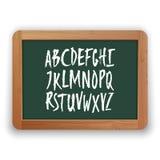 Vector A - le lettere maiuscole di Z sulla lavagna verde Fotografia Stock