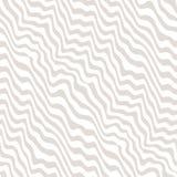 Vector le linee curve dinamiche beige e bianche senza cuciture del modello, Immagini Stock Libere da Diritti