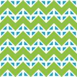Vector le linee variopinte senza cuciture moderne il modello, estratto del gallone della geometria di verde blu di colore Fotografia Stock