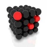 Vector le molecole astratte in due colori Fotografia Stock Libera da Diritti