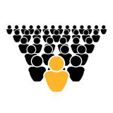 Vector Leadership Concept Icon, Out of Crowd, Be Different, Leader. stock illustration