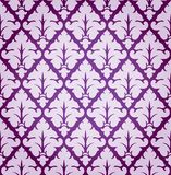 Vector Leaf Damask Background Pattern Stock Image