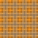 Vector - Leaf maple & Gingham Seamless Pattern Stock Photography