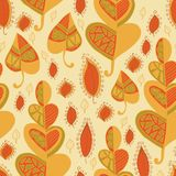 Vector leaf pattern.Leaf background. Stock Photos