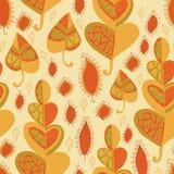 Vector leaf pattern.Leaf background. Stock Photos