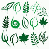 Vector leaf set Stock Photography