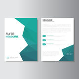 Vector Leaflet Brochure Flyer template a4 size design, annual report book cover layout design, Abstract green presentation templat Stock Image