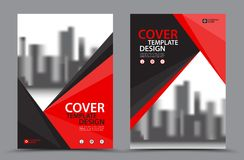 Vector Leaflet Brochure Flyer template A4 size design, annual report, book cover. Layout design, Abstract red template stock illustration