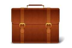 Vector Leather Briefcase Stock Photography