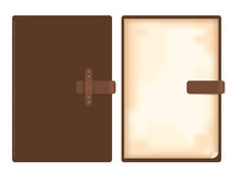 Vector leather note book Royalty Free Stock Image