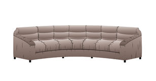 Vector leather sofa. Royalty Free Stock Photos