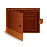 Vector Leather Wallet Stock Photography