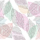 Vector leaves background Royalty Free Stock Images