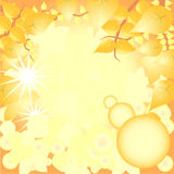 Vector Leaves Background Royalty Free Stock Image