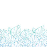 Vector leaves border background Royalty Free Stock Image