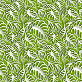 Vector Leaves 3d Seamless Pattern Background Royalty Free Stock Images