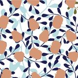 Vector leaves and fruits pattern vector illustration