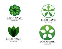 Vector leaves green nature logo and symbol.  Stock Image