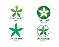 Vector leaves green nature logo and symbol. Vector leaves green nature logo and symbol Stock Photography