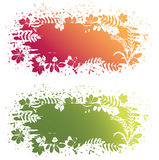 Vector leaves grunge banner Stock Images