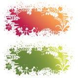 Vector leaves grunge banner stock illustration
