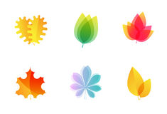Vector leaves icons Stock Photo