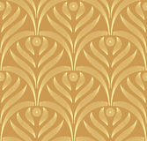 Vector leaves ornament seamless pattern Royalty Free Stock Image