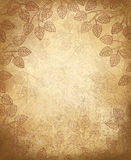 Vector leaves pattern on old paper background. Stock Image