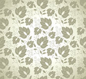 Vector leaves wallpaper Royalty Free Stock Images