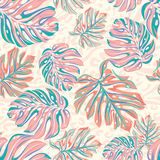 Vector leaves for wallpaper, interior, uholstery. seamless design. Stock Image