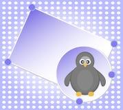 Vector Leeg malplaatje voor de groetenkaart van Kerstmis Stock Afbeeldingen