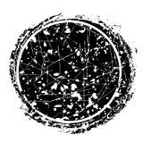 Vector Leeg zwart cirkelkader met kras en kleurpotlood rubberzegel voor uw plaatsing van het tekstgebied vector illustratie