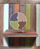 Vector lege houten plank op muur royalty-vrije illustratie