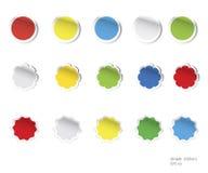 Vector lege stickers Royalty-vrije Stock Foto