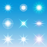 Vector lens flares Set collection 4. 4 Stock Photo