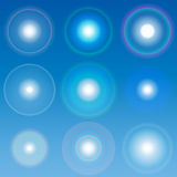 Vector lens flares Set collection 1 Stock Photos