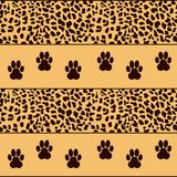 Leopard  background with traces Royalty Free Stock Photography