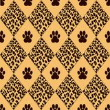Vector leopard  background with traces Royalty Free Stock Photos