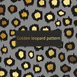 Vector leopard pattern with gold on a gray background. Decorative background for the design of surfaces, covers, posters, banners, Stock Photo