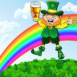 Vector leprechaun with glass of beer Royalty Free Stock Photography