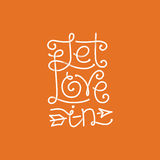 Vector let love in hand lettering Royalty Free Stock Photo