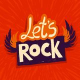 Vector let's rock poster Royalty Free Stock Photo