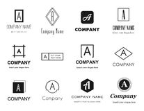 Vector Letter A Logos Icons Royalty Free Stock Image